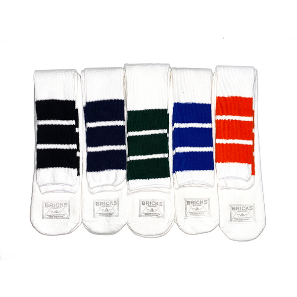 TRI-STRIPE ATHLETIC TUBE SOCKS