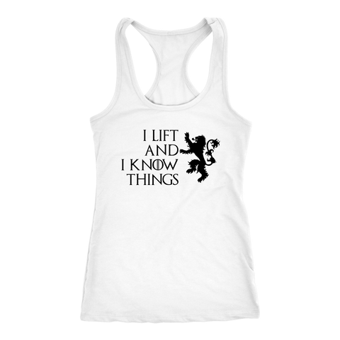 Image of I Lift And I Know Things - Racerback Light