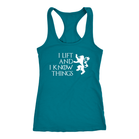 I Lift And I Know Things - Racerback Dark