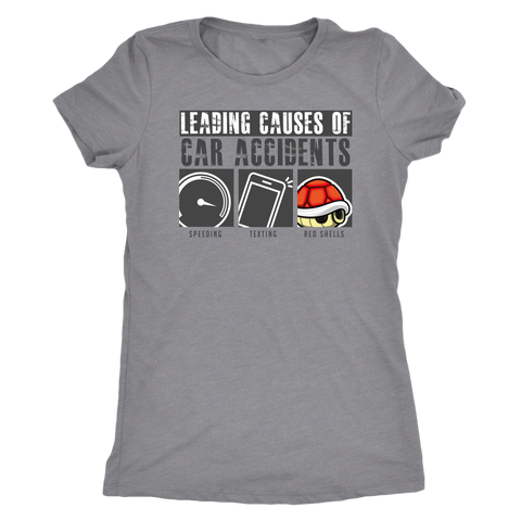 Leading Causes Of Car Accidents - Light Shirt