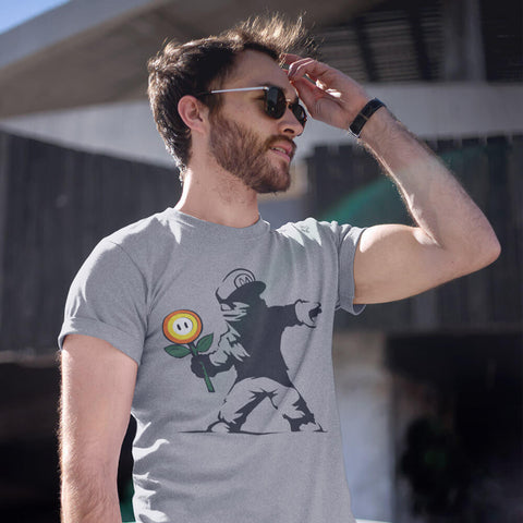 Image of Rogue Mario - Men's Light Shirt