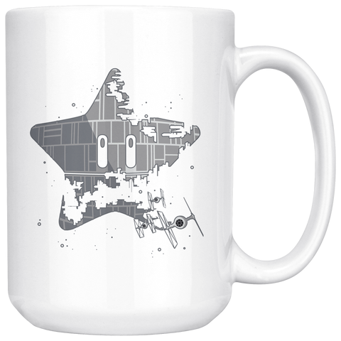 Image of Super Death Star - 15oz White Mug