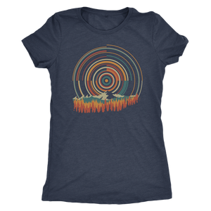 Retro Sunrise - Women's Shirt