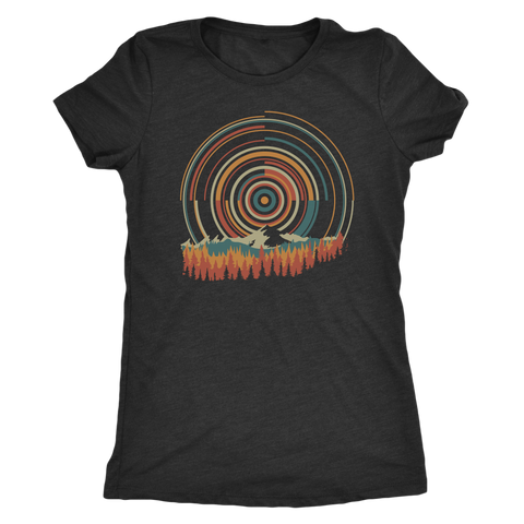 Image of Retro Sunrise - Women's Shirt