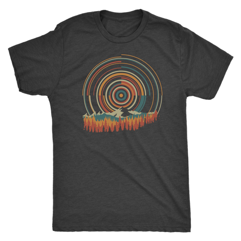 Retro Sunrise - Men's Shirt