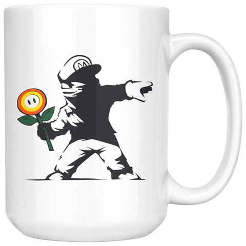 Image of Rogue Mario - 15oz White Mug