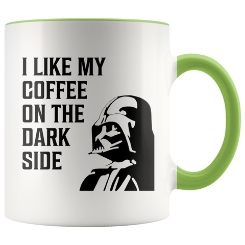 Image of Coffee On The Dark Side -  11oz Accent Mug