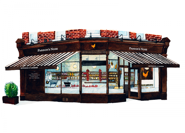 PARSONS NOSE, LONDON X 3 SHOPS - Latest stockists
