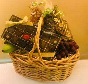 Basket with Fresh Fruit