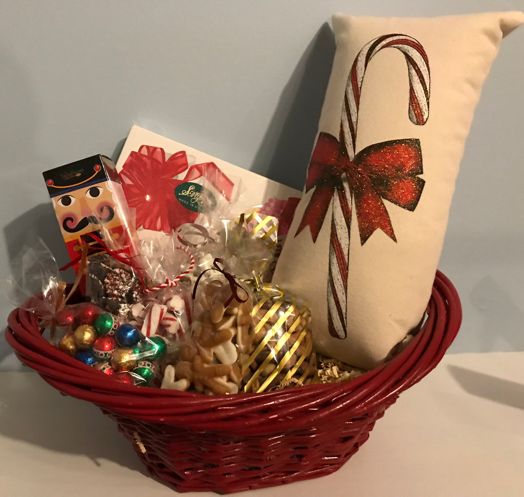 Holiday Gift Basket with Pillow
