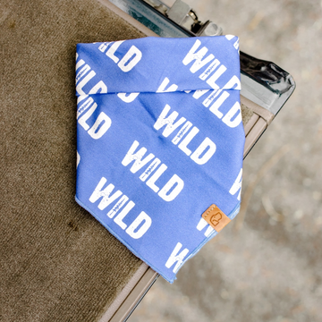 Royal Blue WILD Bandana