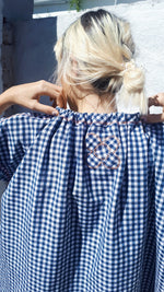 Load image into Gallery viewer, 016:01 Gingham Drawstring Dress