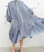 Load image into Gallery viewer, 019:02 Long Bibi Dress in Gingham