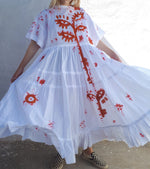Load image into Gallery viewer, HAND PAINTED T-SHIRT DRESS 003