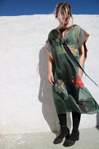 004:05 WILD FLOWER SILK DRESS