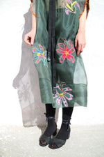 Load image into Gallery viewer, 004:05 WILD FLOWER SILK DRESS