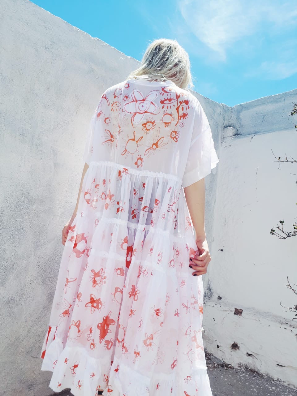 HAND PAINTED T-SHIRT DRESS