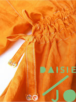 Load image into Gallery viewer, 013 Hand Dyed Orange Linen Dress