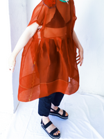 Load image into Gallery viewer, 014 Red Silk Dress
