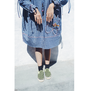 016:01 Gingham Drawstring Dress