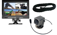 "10.1"" Portable Tractor Camera Kit Quad Monitor #VWIC1040P"