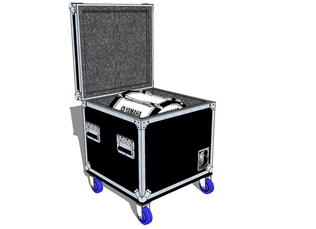 Drum Case Trunk or Vault - Brady Cases - 14