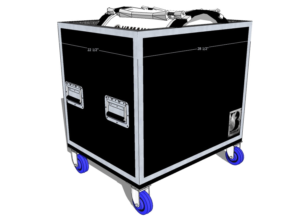 "Single 22"" Marching Bass Case - Brady Cases - 1"