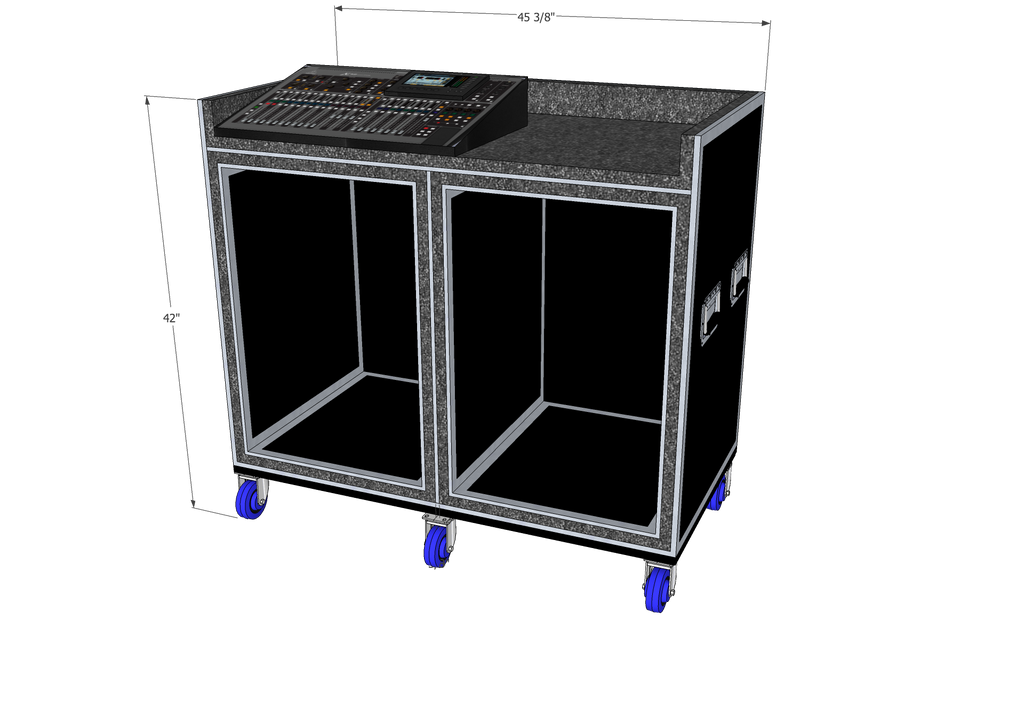 Mixer/Rack case - Brady Cases - 10