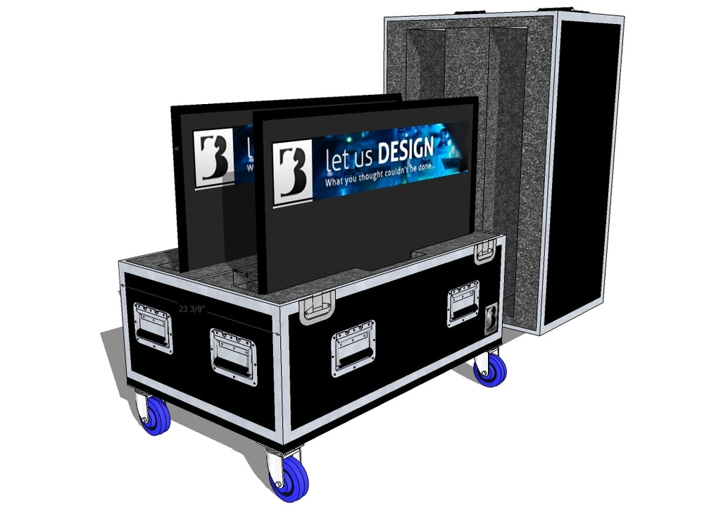 Double Screen Case - Plasma/LCD/LED - Brady Cases - 1