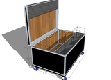 Drum Case Trunk or Vault - Brady Cases - 17