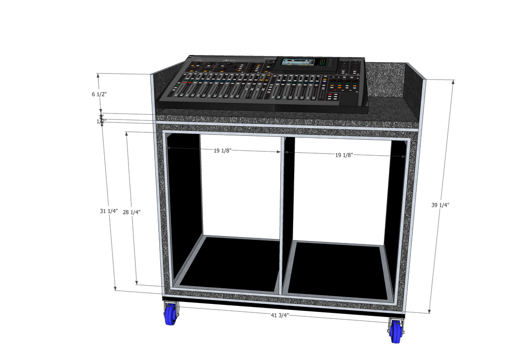 Mixer/Rack case - Brady Cases - 11