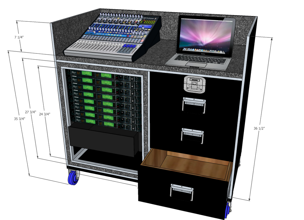 Mixer/Rack case - Brady Cases - 3