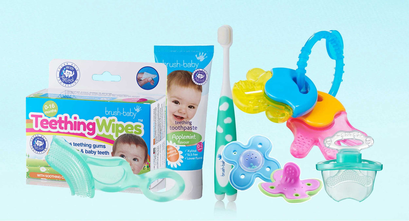 Baby Teether | Best Teether | Brush-Baby Baby Toothbrbush
