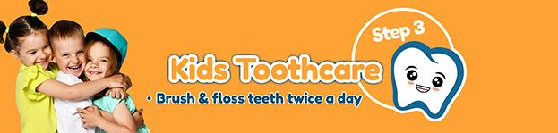 Step 3 - Kids product dental range Brush-Baby