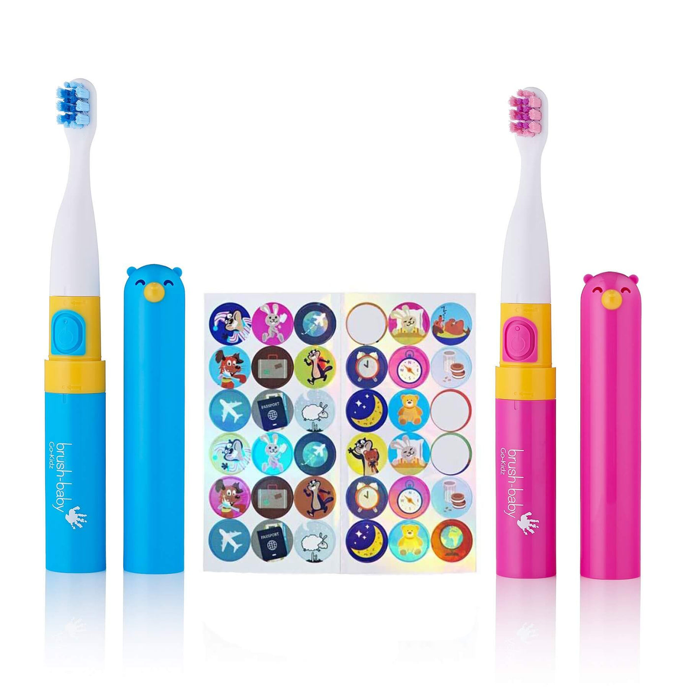 Brush-Baby Go-Kidz Pink & Blue