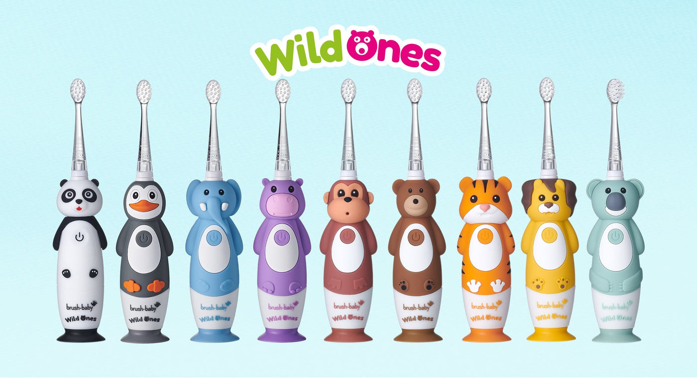 WildOnes Rechargeable Toothbrushes in Panda, Elephant, Penguin and Hippo