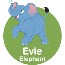 Evie the Elephant WildOnes logo