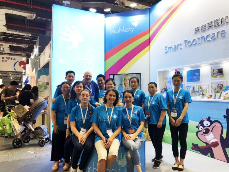 Brush Baby Childrens toothcare toothbrushes International China Show Team