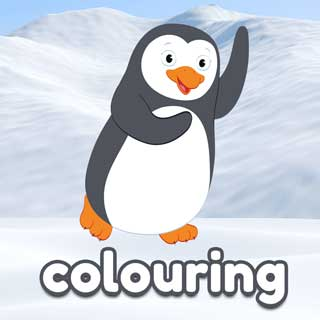 Percy the Penguin colouring Activity