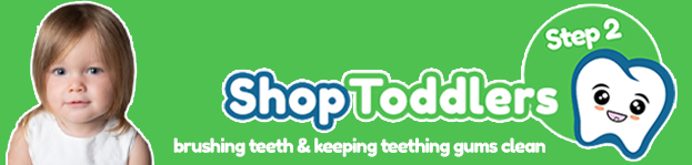 Step 2 - Toddlers  Teething Toothbrush Brush Baby Clean your baby's gums and first teeth