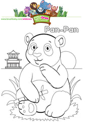 WildOnes Pan Pan the Panda children's colouring activity page