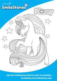 Flossy the Unicorn color activity sheet