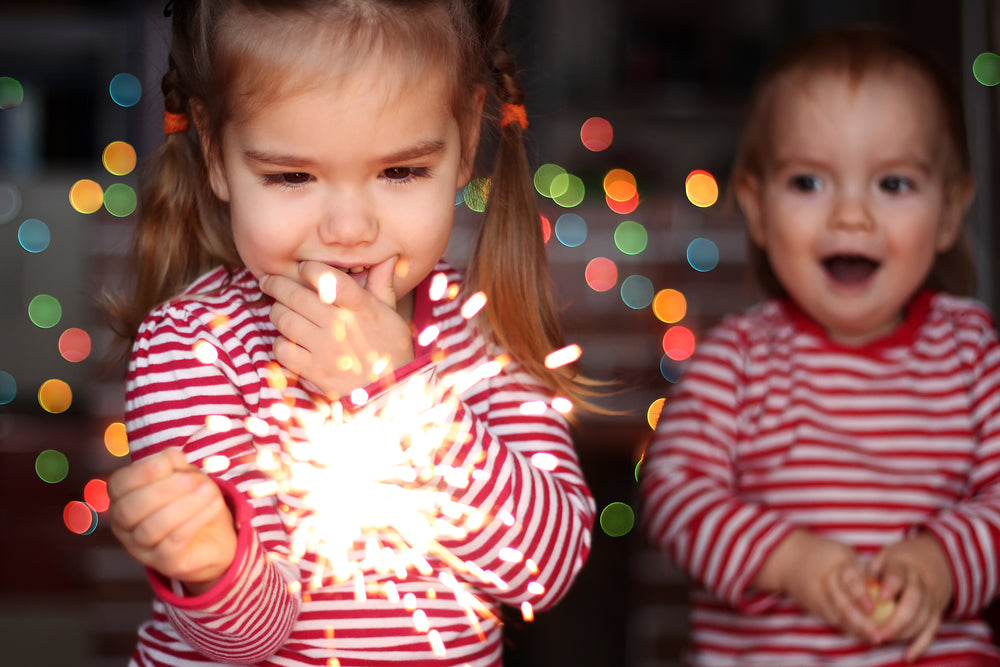 children with sparklers