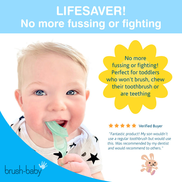Chewable Toothbrush and Teether (10-36 months) Pack of 2 - BrushBaby