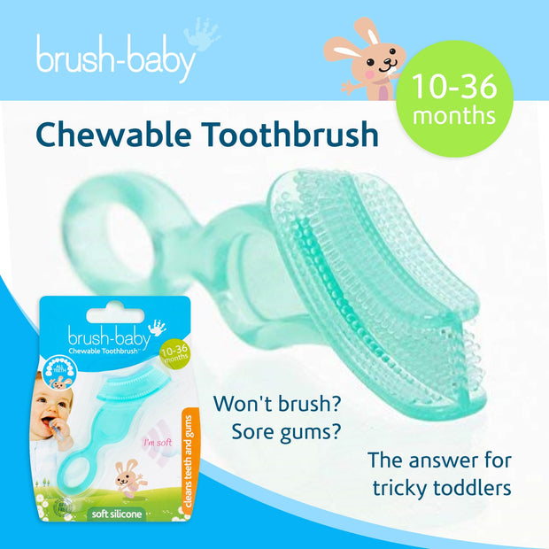 Chewable Toothbrush and Teether (10-36 months) Pack of 2