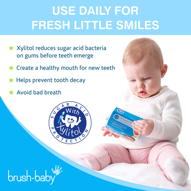 Value Pack of 6 Boxes DentalWipes (0-16 months) - BrushBaby