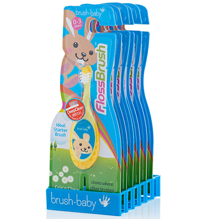 FlossBrush 0-3 Years - Wholesale Display Pack of 12