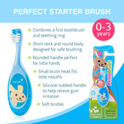 FlossBrush (0-3 Years) - Pack of 4 Blue