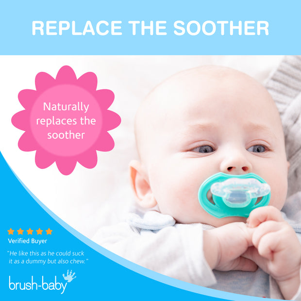 FrontEase Teether (3+ months) - Teal - BrushBaby