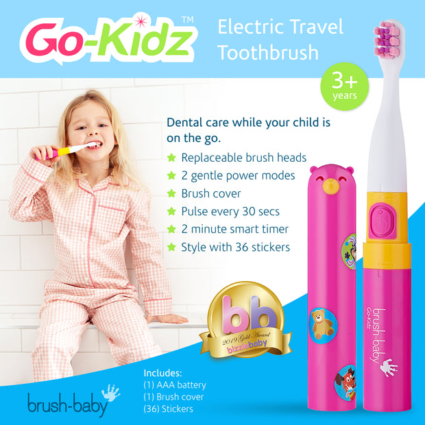 Brush-Baby Go-Kidz Electric Toothbrush - Pink